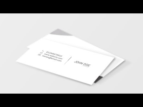 Creating a visiting card in Adobe Indesign and Mockup in Adobe Photoshop