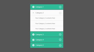 Simple Accordion Menu Using HTML And CSS Only!