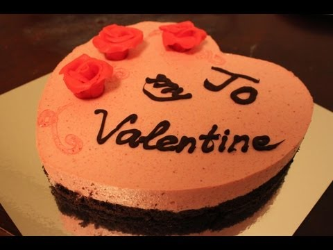 How to make a mousse cake - Valentine's day strawberry mousse cake