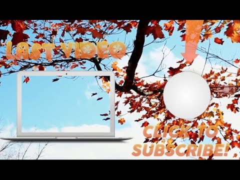 PRE-MADE ANIMATED FALL OUTRO TEMPLATES | 2018