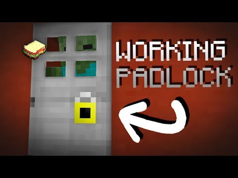 Minecraft | How to make a Working Padlock