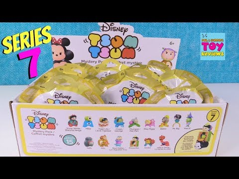 Disney Tsum Tsum Series 7 Mystery Pack Full Box Opening Toy Review   PSToyReviews