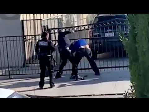 BYSTANDER VIDEO: Video shows officer repeatedly punching suspect in Boyle Heights | ABC7