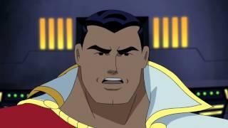Superman reprimands Captain Marvel