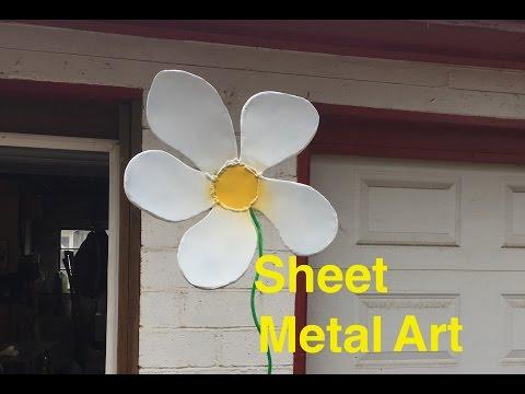 Sheet Metal Flower Art