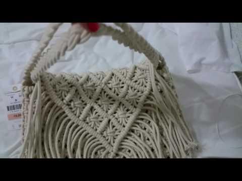 Macrame bag fr. OYSHO can be a clutch or hand bag too