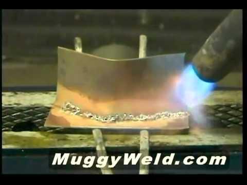 Reparación en latón con pasta de soldadura de plata