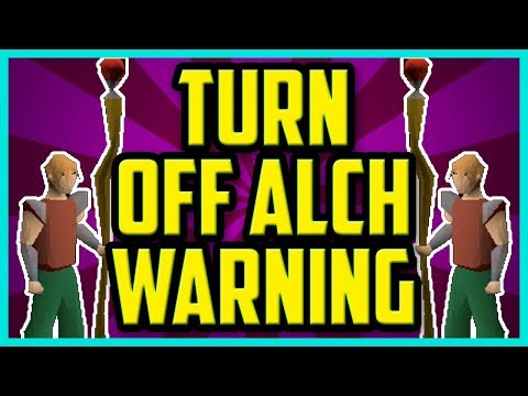 How To Turn Off The Alch Warning In OSRS 2017 (EASY) - OSRS high alch warning turn off