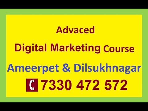 Digital Marketing course for Freshers and Experieced People | Contact 7330472572