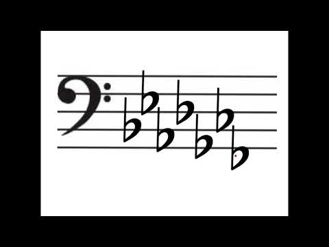 Flats, Sharps and Key Signatures - Bass Clef