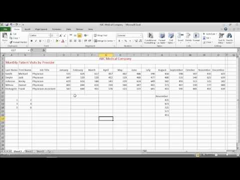 Excel 2010 Basics - Merging and Splitting Cells.mov