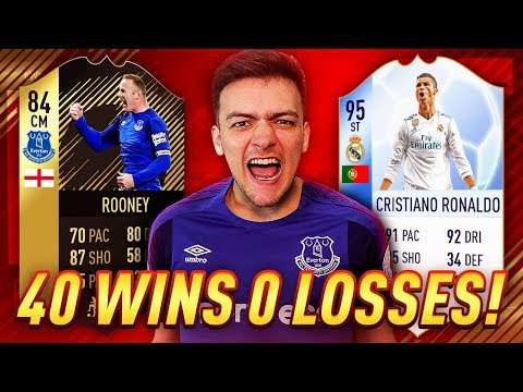 40 WINS 0 LOSSES ON FUT CHAMPIONS!! WAYNE ROONEY IS THE BEST PLAYER ON FIFA 18!