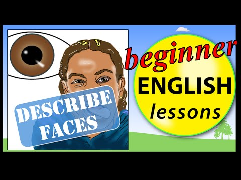 Describe faces in English | Learn English Lessons - Beginner vocabulary