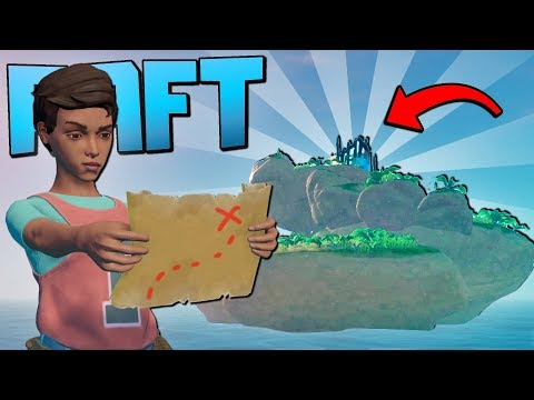 WE FOUND INCREDIBLE LOOT AND ANCIENT RUINS ON THIS TREASURE ISLAND  - Raft Gameplay