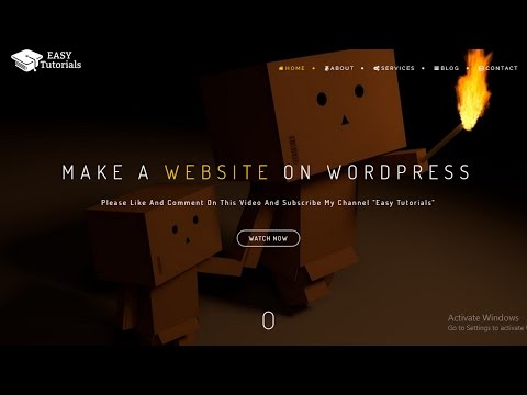 How To Make A Website On WordPress In Hindi 2018 (BeOnePage Theme)
