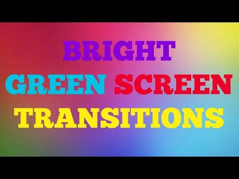 BRIGHT GREEN SCREEN TRANSITIONS!