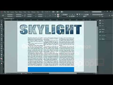 Outline type, fill with an image and adding effects - InDesign CC Tutorial  [17/20]
