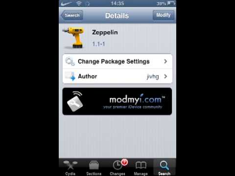 Zeppelin Cydia Tweak - Your own custom carrier logo