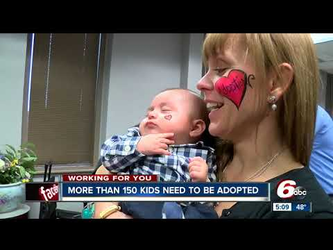 More than 150 children need to be adopted in Indiana