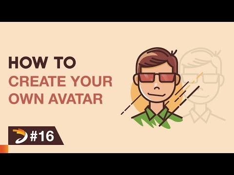 How to create an avatar like a cartoon character | Adobe Illustrator Tutorial