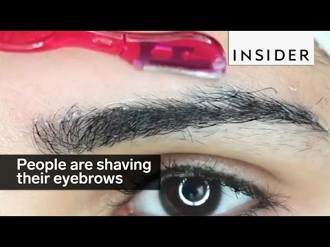 People are shaving their eyebrows for clean brows