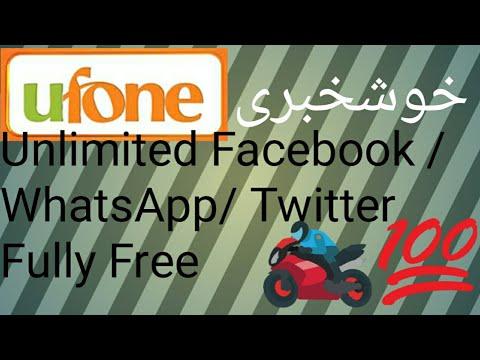 Ufone Sim par hasal karay Rs.50 ma Unlimited Facebook or WhatsApp