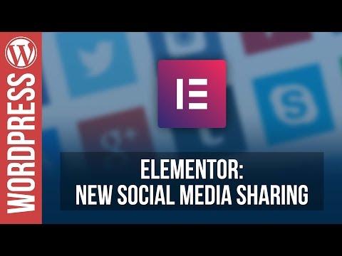 ELEMENTOR: New Social Sharing Widget Tutorial