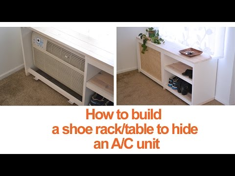 How to build a DIY shoe rack or table to conceal an A/C unit