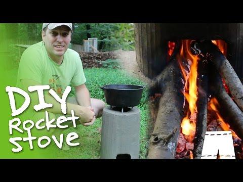 How To Make A DIY Concrete Rocket Stove