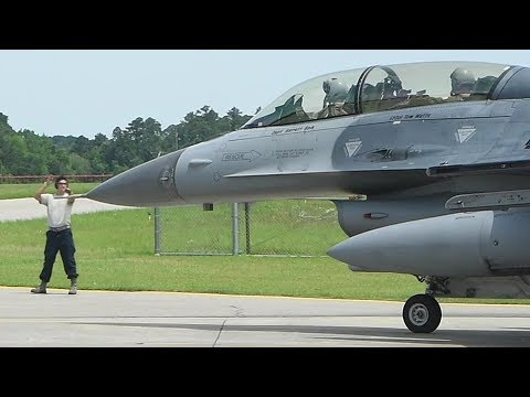 F-16 Fighter Jet Launch During Southeast Aerospace Control Alert Conference