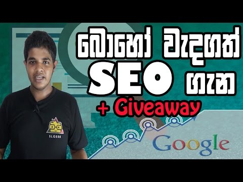 What Is SEO ? E-Money | Website Visitors | All About SEO in Sinhala +GIVEAWAY