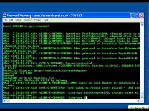 Cisco IOS Password Recovery Procedure - 2800 SERIES ROUTER