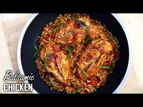 Braised Balsamic Vinegar Chicken Recipe - What's For Din'? - Courtney Budzyn - Recipe 87