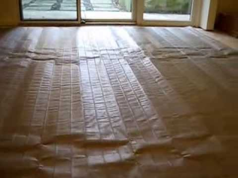 how to install Nuheat electric heat mat radiant under floor  ceramic tile or stone flooring