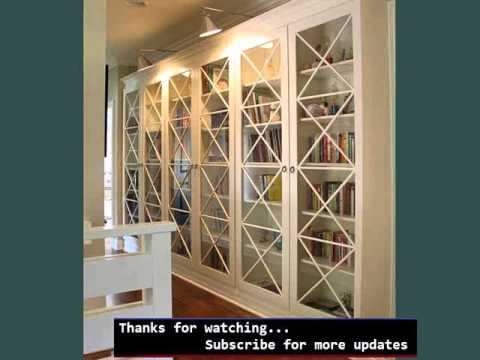 Wall Mounted Shelving Picture Ideas | Bookshelves With Glass Doors