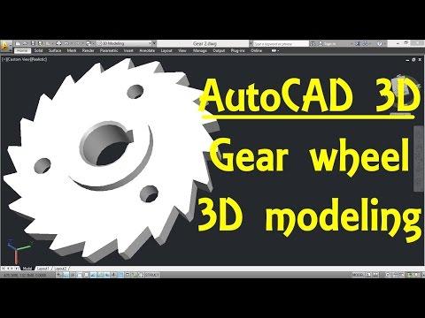 Gear wheel AutoCAD 3D modeling tutorial   AutoCAD 3D Modeling 23