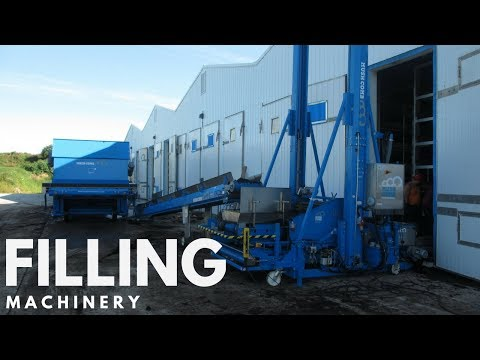 Mushroom Machinery - Outstanding Filling of Compost Phase II in practice