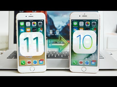 How To Downgrade iOS 11 to iOS 10 without Losing Data