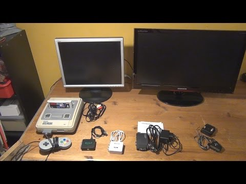 Old Consoles + Modern LCDs? Testing Cheap Composite to HDMI / VGA -Converters