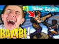 LE PLUS GROS FIGHT DE BAMBI POUR LEUR PREMIER TOP 1 SUR FORTNITE BATTLE ROYALE