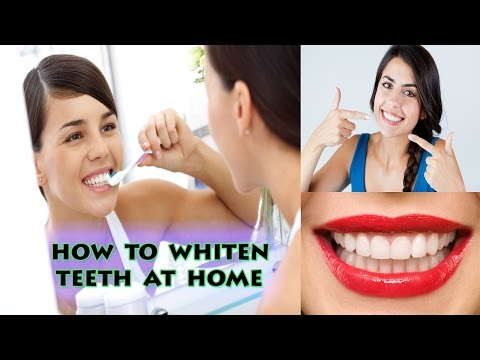 How to Whiten Teeth | White Teeth with Braces at Home 2016