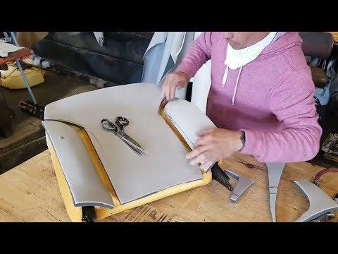 Working on a backet seat foam | Reshaping driver seat foam.