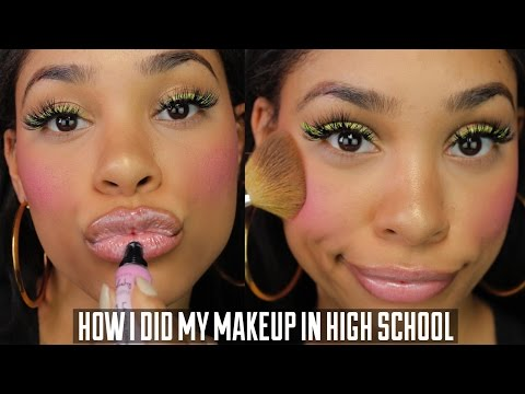 HOW I DID MY MAKEUP IN HIGH SCHOOL CHALLENGE (PICS INCLUDED)