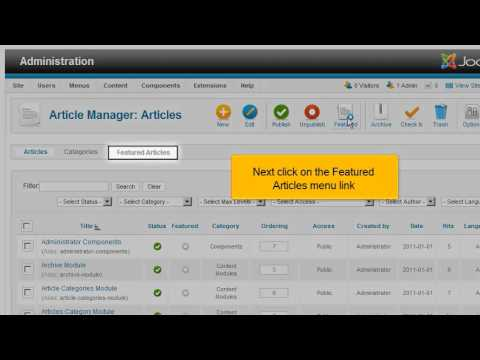 How to create Front Page articles in Joomla 2.5