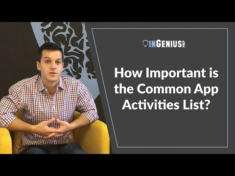 How Important is the Common App Activities List?