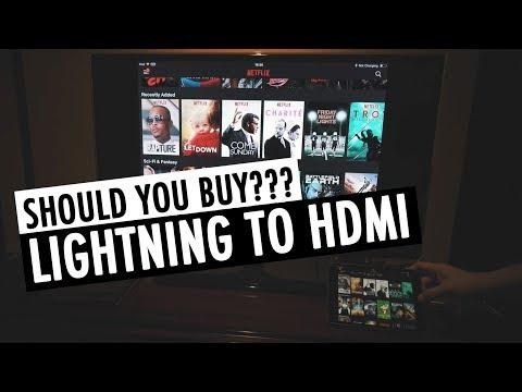 Should You Buy Apple's Lightning Digital AV Adapter | Lightning to HDMI | RehaAlev