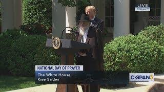 Rabbi Yisroel Goldstein at White House National Day of Prayer (C-SPAN)