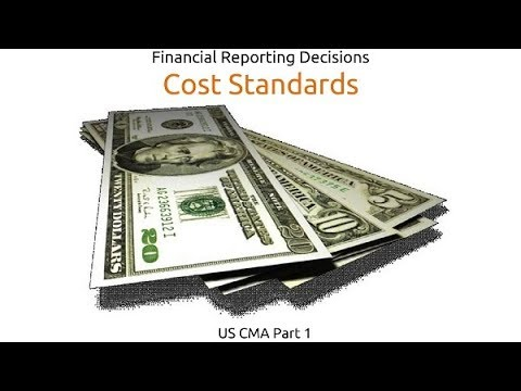 Cost Standards | Financial Reporting Decisions| US CMA Part 1| US CMA course | US CMA Exam