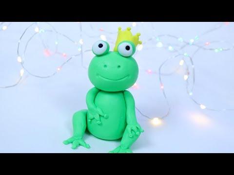 How To Make Fondant Frog Tutorial! Frog figure cake topper for beginners