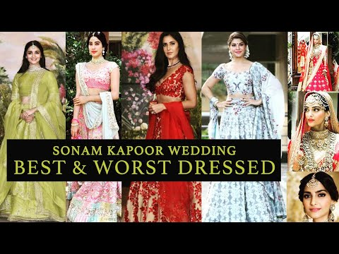SONAM KAPOOR WEDDING/ SANGEETH /RECEPTION- BEST & WORST DRESSED